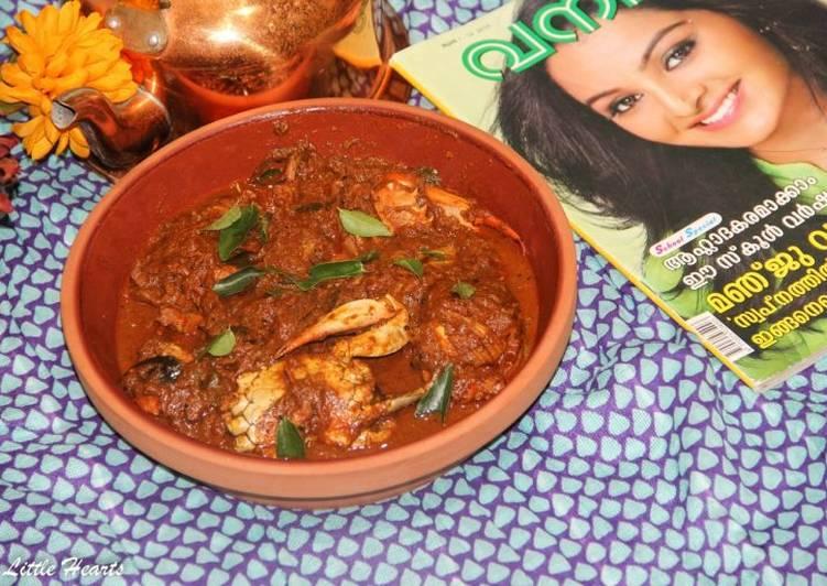 Malabari Njandu Curry / Malabar Style Crab Curry