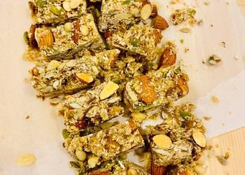 Easiest Way to Recipe Tasty Sea Salt Almond Seed Bars No Bake Vegan Dairy Free