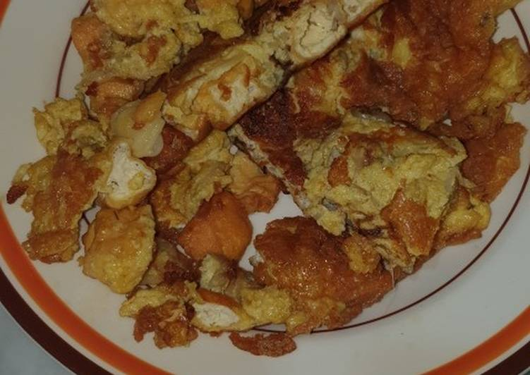 House egg tofu round omelet