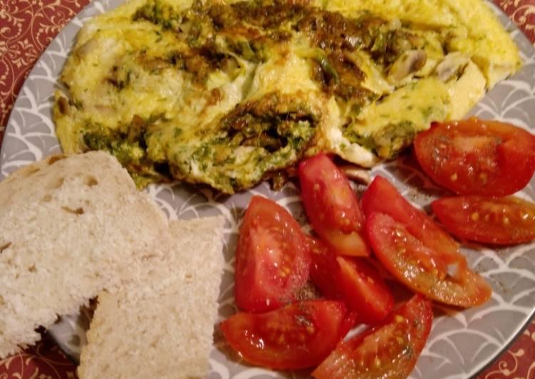 Käse-Champignon-Kresse-Omelette