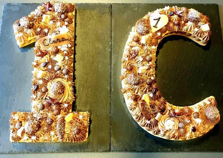 Recipe: Perfect Lettercake numbercake 2 chocolats