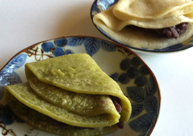 Easiest Way to Prepare Any-night-of-the-week Mochi Crepe with Tsubu-an