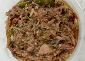 Easiest Way to Cook Yummy Spicy Canned Tuna Sambal Tuna