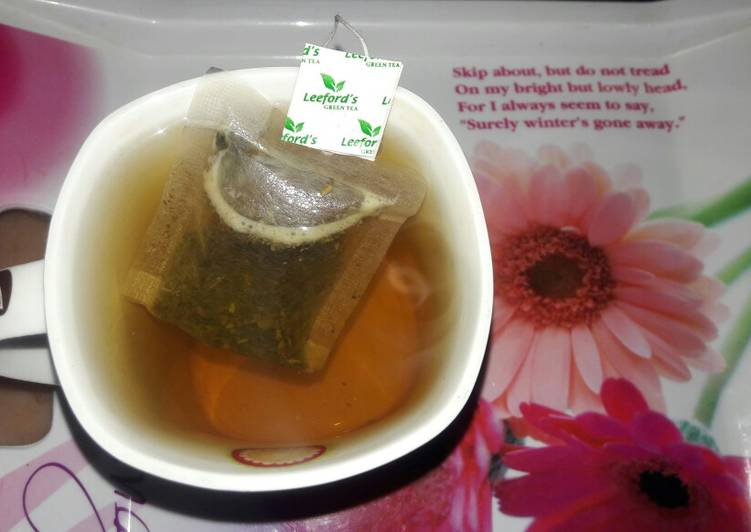 Recipe: Exquisite Weight loss green tea