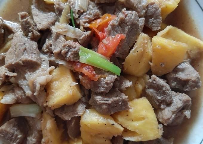 Resep Daging Sapi Masak Nanas yang Enak