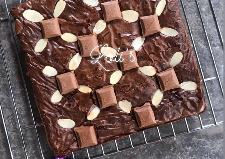 Cadburry Almond Fudge Brownies