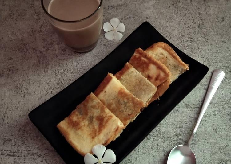 Roti moza panggang teflon