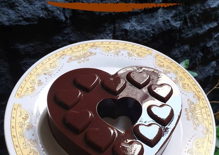resep cara bikin Puding Coklat vla Vanila