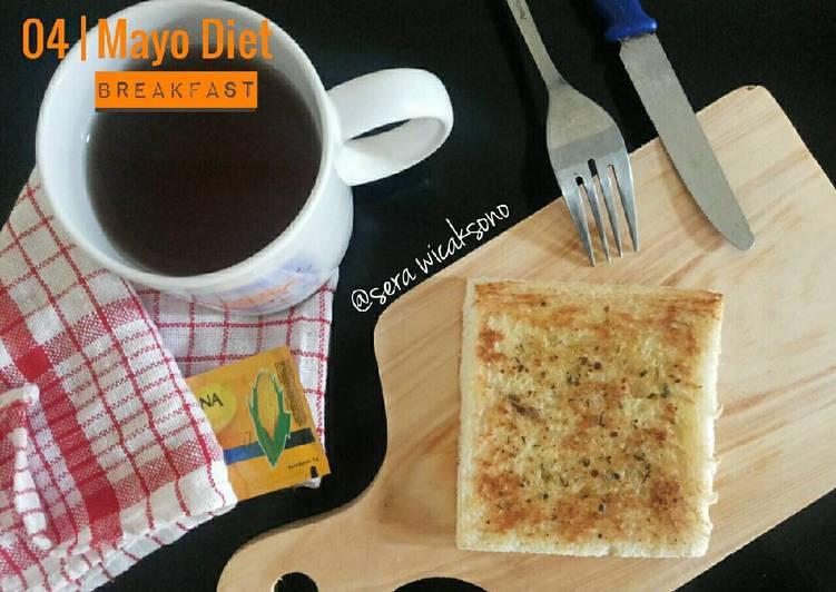 Resep Mayo day 4 – breakfast | roti oregano Paling Enak