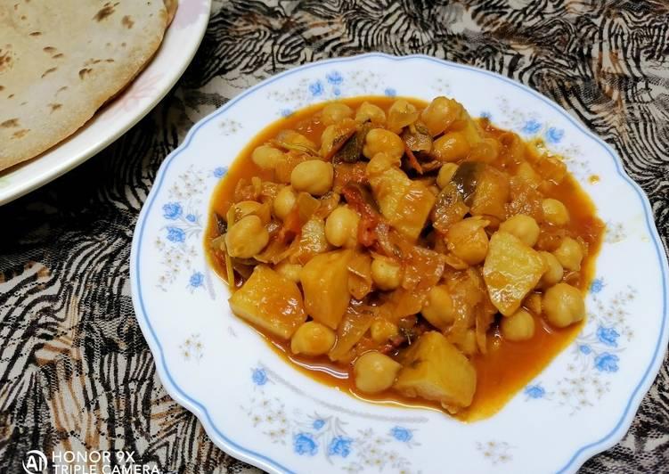 -potato and chickpea roast