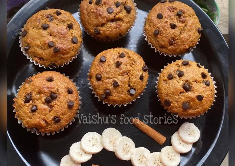 Easiest Way to Prepare Quick Wheat Banana Jaggery Muffins