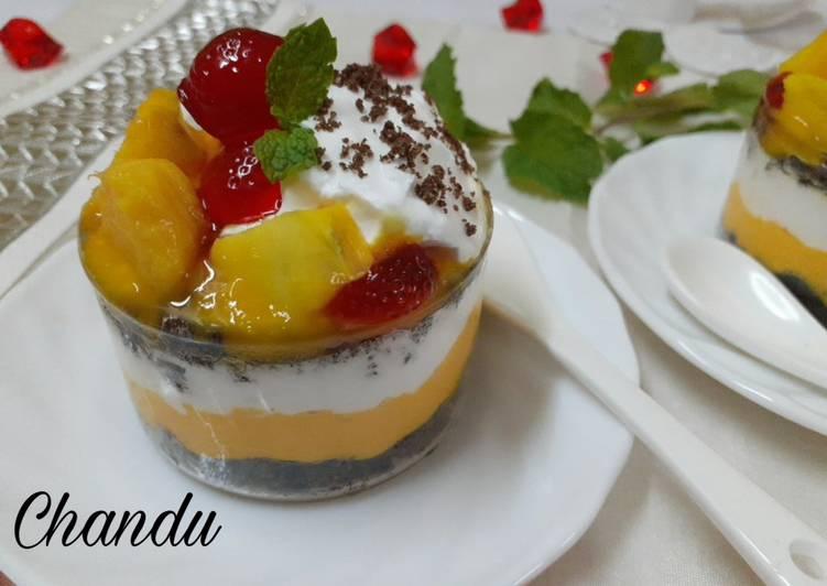 Recipe of Quick Mango cheesecake parfait