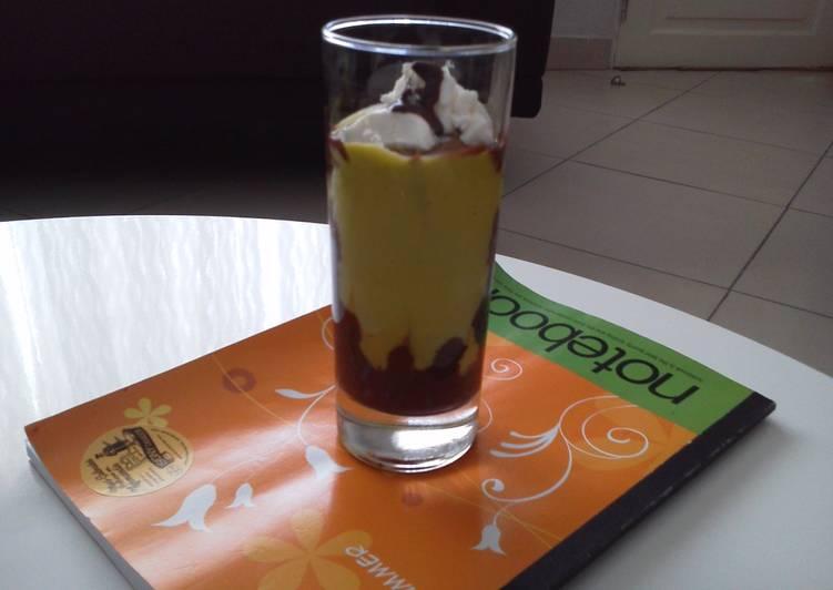 Recipe of Homemade Avocado shake topped with vanilla ice cream