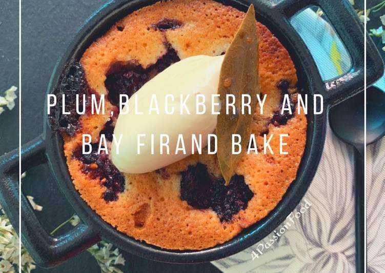 How to Make Appetizing Friand de prunes, mûres et feuille de laurier d'ottolenghi 4PassionFood #healthy