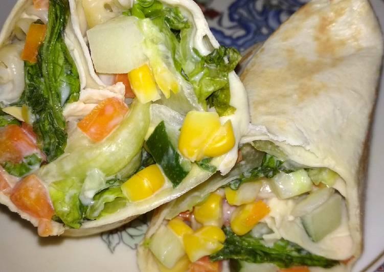 Resep Vegan Salad Wrap Oleh Miar Wardani Cookpad
