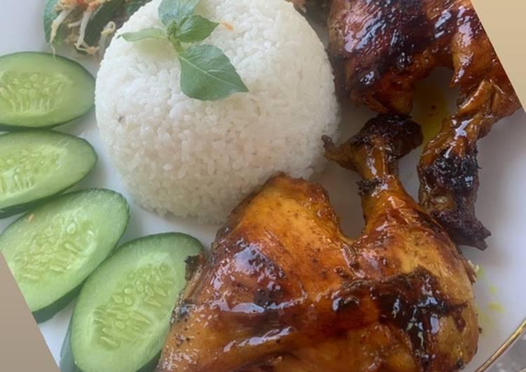 Ayam Bakar Madu With Urap-Urap