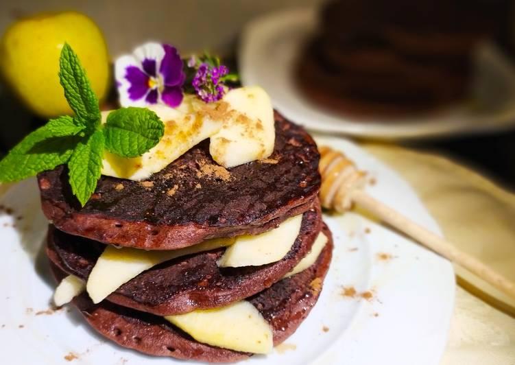 Tortitas de Avena, Chocolate y Manzana a la Menta #singluten