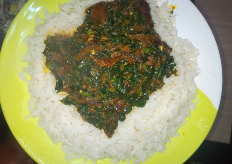 Vegetable soup and rice