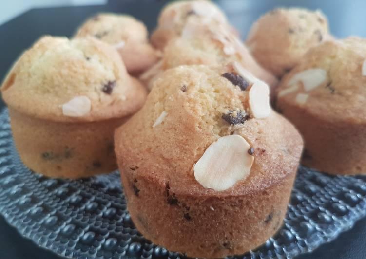 Recette: Muffins amande pépite de chocolat