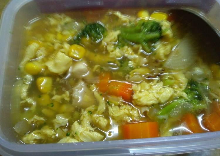 Sup ayam telor sehat