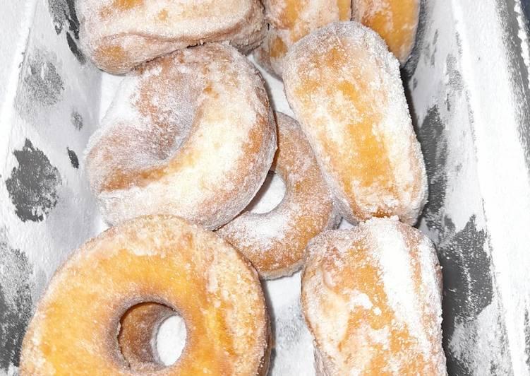 Resepi:  Donut montok  Dirumah