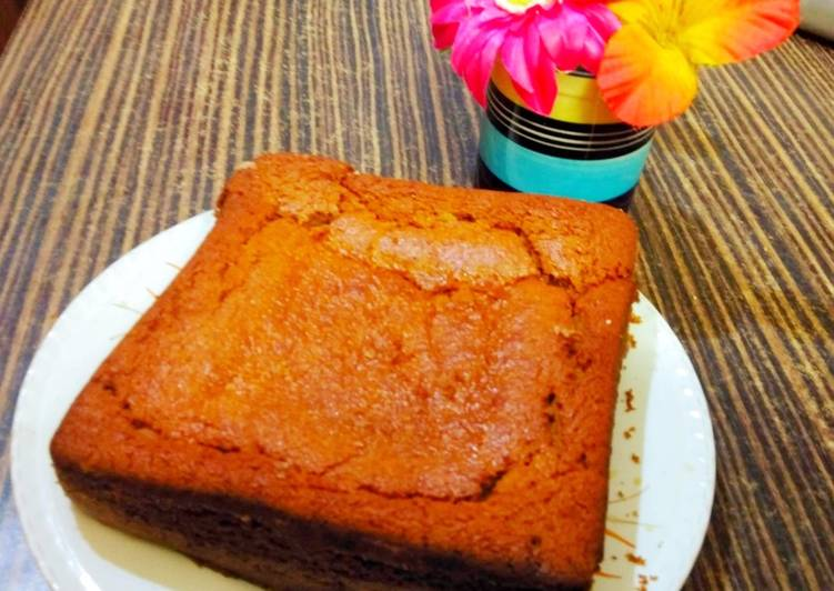 Simple Way to Make Favorite Eggless wheat flour orange cake