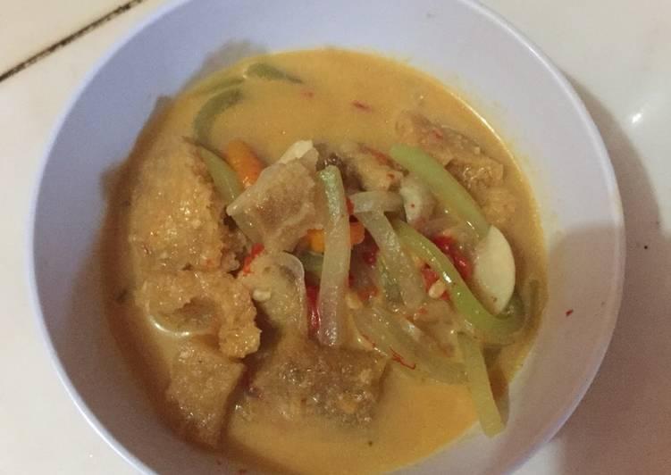 Sambal goreng jipang krecek (jangan Lombok jepan)