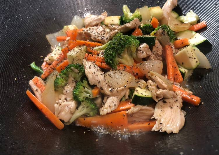 Recipe of Speedy Stir fried Chicken &Vegetables