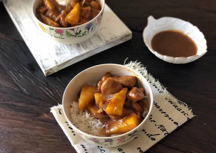Rice bowl ayam nanas