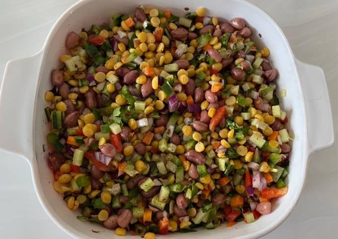 Peanuts and split yellow pea salad