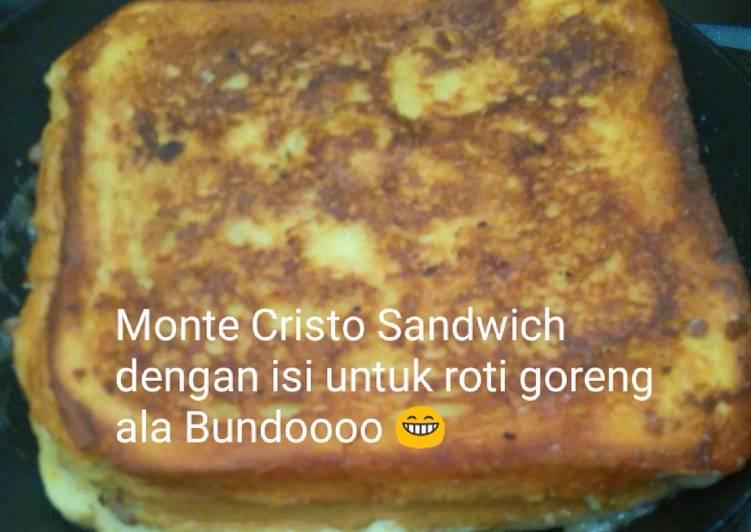 Monte Cristo Sandwich dengan Daging untuk Isian Roti Goreng ala Bundoooo - cookandrecipe.com