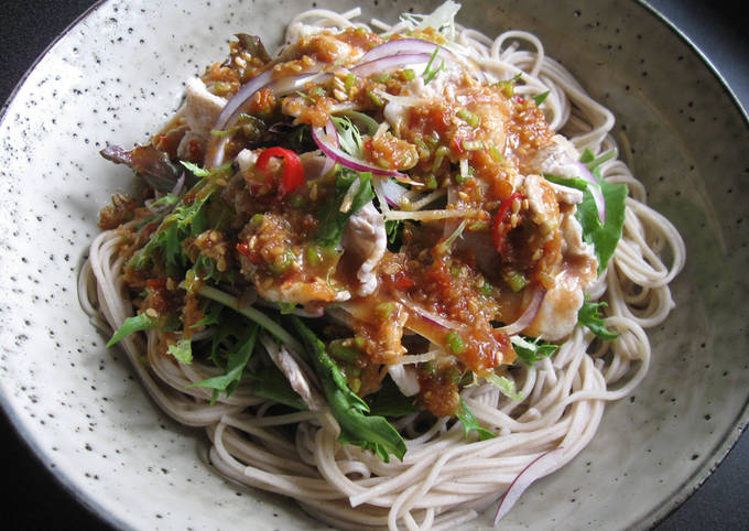 Soba & Pork Salad with Spicy Sauce