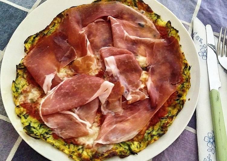 Pizza Light di Zucchine al prosciutto Crudo