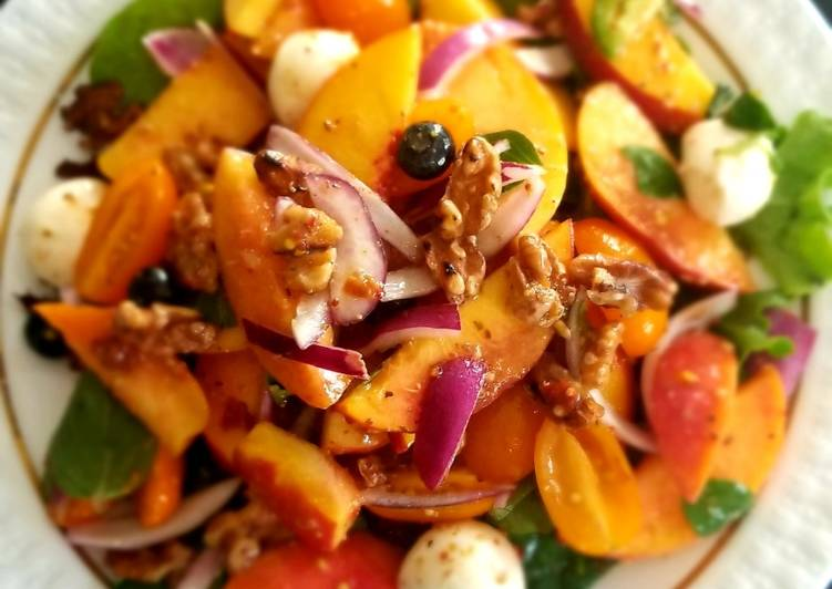 Peach and Arugla Salad for Queens