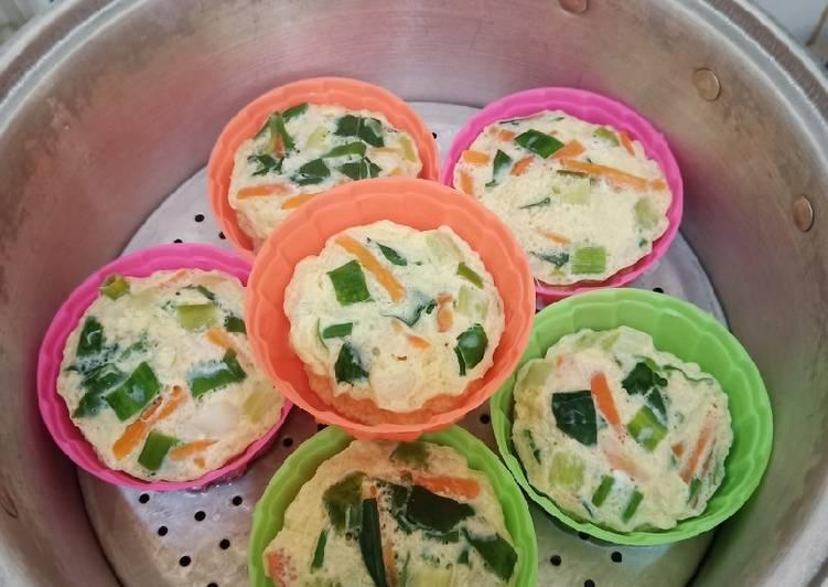 Resep Telur dadar kukus warna warni sehat tanpa msg Paling dicari