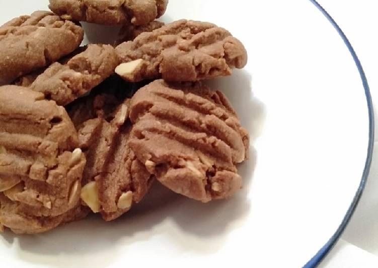 Almond Chocolate Cookies by @rinadedik