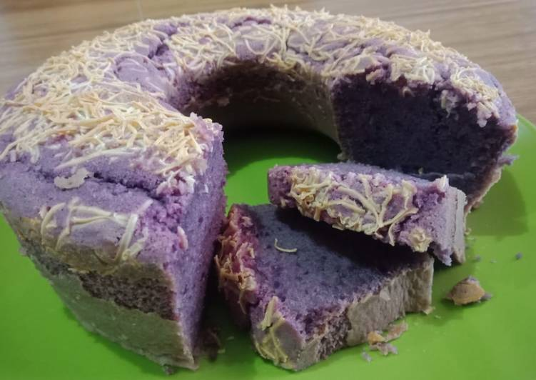 Bagaimana Caranya Memasak Berselera Bolu Ubi Ungu / Taro Cake Lembuutt