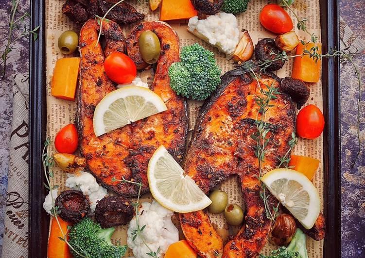Salmon Cajun Saripah Aloyah #MaratonRaya #Ikan - resepipouler.com