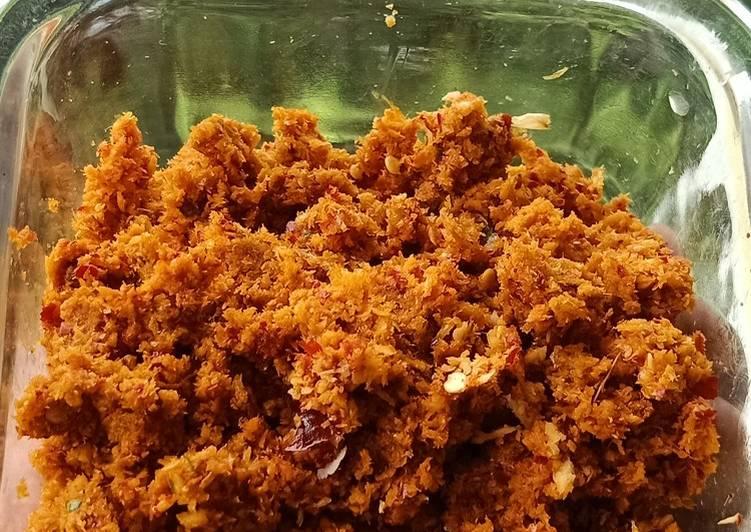 Onakka chemmeen chutney or Dry shrimp chutney Finding Healthy Fast Food