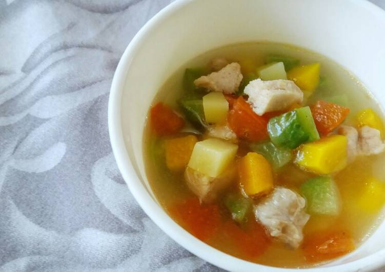 Veggie and Chicken Soup (Toddler Meal)