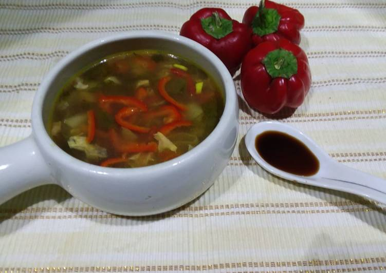 Steps to Prepare Perfect Hot & sour soup
