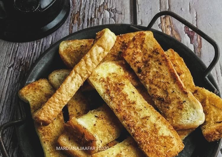 Resepi:  Garlic Bread 3 bahan  Dirumah
