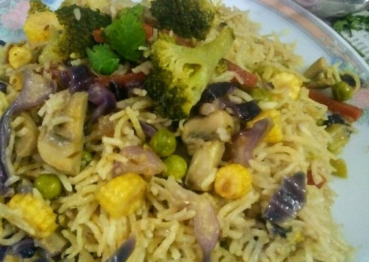 Veg fried rice (my style)