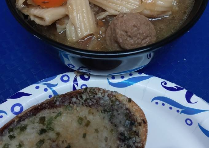 Sauerkraut, and Meatball Soup