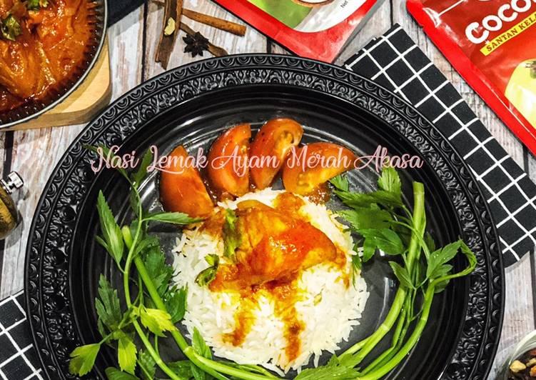 Resepi Nasi Lemak Ayam Merah Akasa