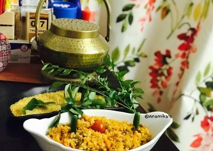 Thinai/Foxtail Millets Upma