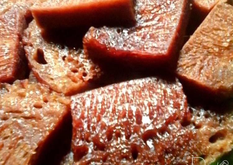 resep menyajikan Sarang semut kukus - Sajian Dapur Bunda