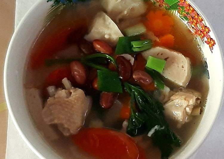 Sup sayap kacang merah