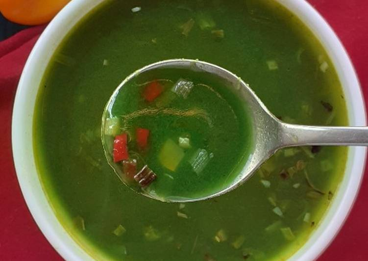 Spinach Clear Soup