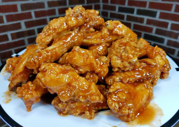 Deep Fried Honey Bbq Chicken Wings Drummettes Recipe By